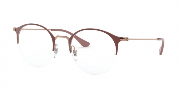 RAY-BAN RX3578V style-color 2973 Copper ON Top Light Brown