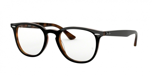 RAY-BAN RX7159F ASIAN FIT style-color 5909 Top Grey ON Havana