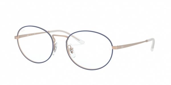 RAY-BAN RX6439 style-color 3053 Matt Blue ON Rubber Copper