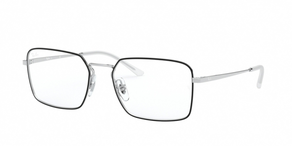 RAY-BAN RX6440 style-color 2983 Top Black ON Silver