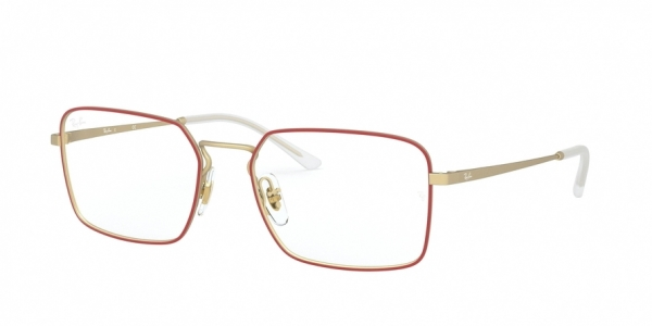 RAY-BAN RX6440 style-color 3052 Matt Red ON Rubber Gold