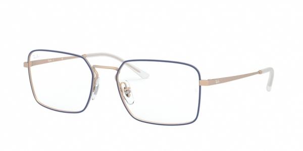 RAY-BAN RX6440 style-color 3053 Matt Blue ON Rubber Copper