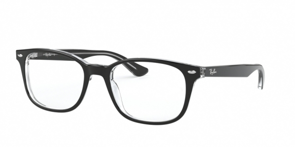 RAY-BAN RX5375F ASIAN FIT style-color 2034 Top Black ON Transparent