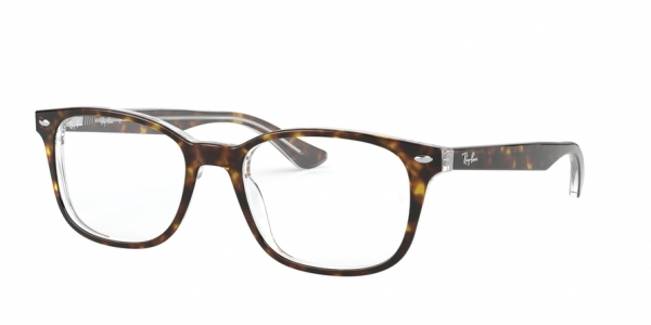 RAY-BAN RX5375F ASIAN FIT style-color 5082 Top Havana ON Transparent