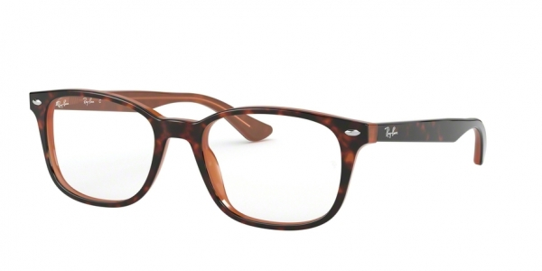 RAY-BAN RX5375F ASIAN FIT style-color 5713 Top Havana ON Light Brown