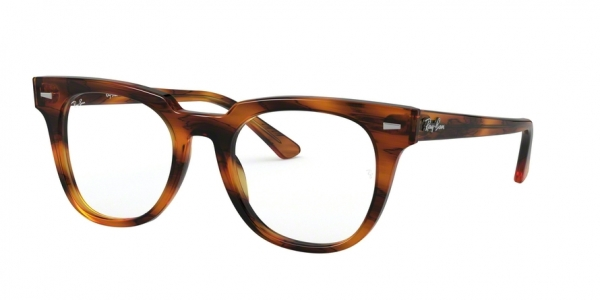 RAY-BAN RX5377F METEOR ASIAN FIT style-color 2144 Stripped Red Havana
