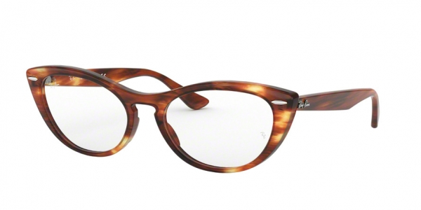 RAY-BAN RX4314V NINA style-color 2144 Stripped Red Havana