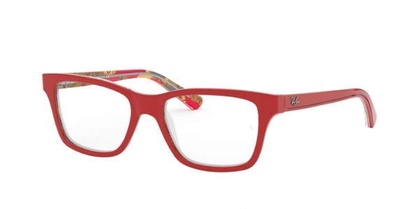 RAY-BAN RY1536 style-color 3804 Red ON Texture Red Brown