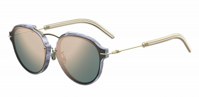 DIORECLAT style-color White Marblegd 0GBZ / Gray Rose Gold 0J Lens