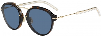 DIORECLAT style-color Havana Rose Gold 0UGM / Gray 72 Lens