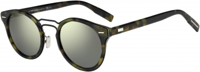 DIOR HOMME DIOR 0209S style-color Havana Matte Black 02OS / Gray Ivory Mirror UE Lens