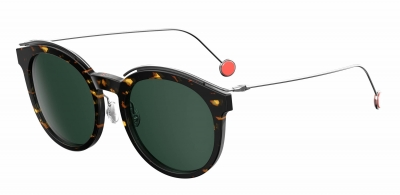 DIOR BLOSSOM/S style-color Havana Spotted 00M7 / Gray Green 85 Lens
