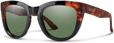 SMITH SIDNEY style-color Black Havana 0WR7 / gray green cp