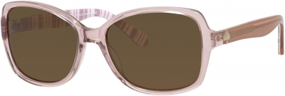KATE SPADE AYLEEN/P/S style-color Beige Striped White 0QGX/VW / Brown Polarized Lens