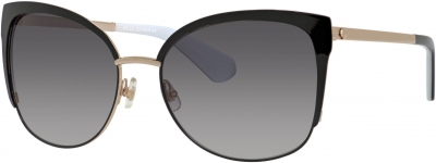 KATE SPADE GENICE/S style-color Black Gold 0RRC/F8 / Gray Gradient Lens