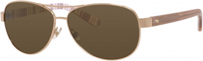 KATE SPADE DALIA 2/P/S style-color Light Gold 0RNE/VW / Brown Polarized Lens