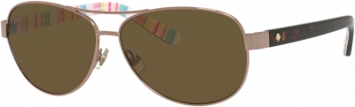 KATE SPADE DALIA 2/P/S style-color Red Gold 0RNF/VW / Brown Polarized Lens
