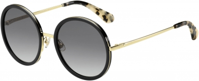 KATE SPADE LAMONICA/S style-color Black Gold 02M2 / dark gray gradient lens