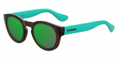 HAVAIANAS TRANCOSO/M style-color Brown Turquoise 0R0R / green multi