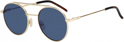 FENDI 0221/S style-color Rose Gold 0000 / blue avio lens
