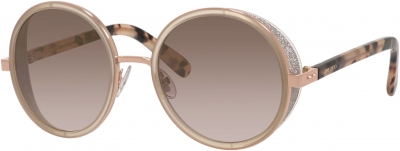 JIMMY CHOO ANDIE/S style-color Gold Copper 0J7A/NH / Brown Mirror Gold Lens