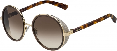 JIMMY CHOO ANDIE/S style-color Rose Gold / Brown 0J7G/JD / Brown Gradient Lens