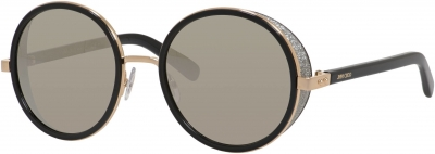 JIMMY CHOO ANDIE/S style-color Rose Gold / Shiny Black 0J7Q/M3 / Gray Silver Mirror Lens