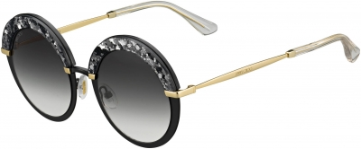 JIMMY CHOO GOTHA/S style-color Semi Matte Black 0THP / Dark Gray Gradient 9O Lens