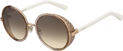 JIMMY CHOO ANDIE/N/S style-color Gdbe Glitterwh 01KH / brown gradient lens