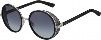 JIMMY CHOO ANDIE/N/S style-color Palladium Black 0B1A / gray gradient lens