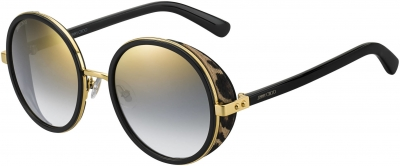 JIMMY CHOO ANDIE/N/S style-color Gold Black 00NQ / gray sf gold sp lens