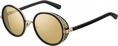 JIMMY CHOO ANDIE/N/S style-color Black Gold 02M2 / silver mirror lens