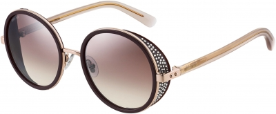 JIMMY CHOO ANDIE/N/S style-color Plum 00T7 / Brown Mirror Gradient Lens