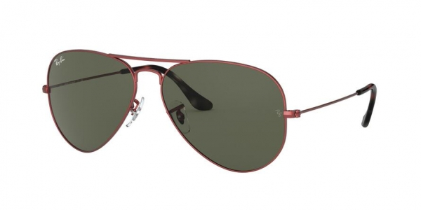 RAY-BAN RB3025 AVIATOR LARGE METAL style-color 918831 Sand Trasparent Red