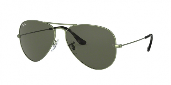 RAY-BAN RB3025 AVIATOR LARGE METAL style-color 919131 Sand Trasparent Green
