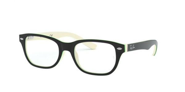 RAY-BAN RY1555 style-color 3820 Top Black ON White / Green