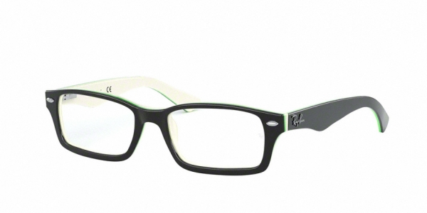 RAY-BAN RY1530 style-color 3820 Top Black ON White / Green