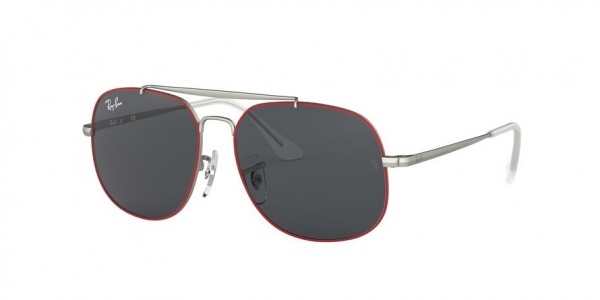RAY-BAN RJ9561S style-color 278/87 Rubber Red ON Silver