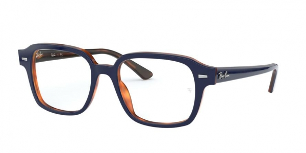 RAY-BAN RX5382 style-color 5910 Top Blue ON Havana Red