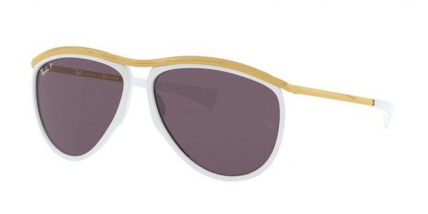 RAY-BAN RB2219 OLYMPIAN AVIATOR style-color 1289AF White