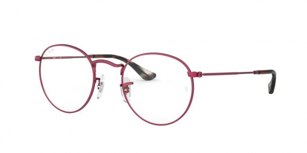 RAY-BAN RX3447V ROUND METAL style-color 3072 Sand Trasparent Red