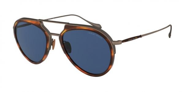 GIORGIO ARMANI AR6097 style-color 325980 Striped Brown / Brushed Bronze