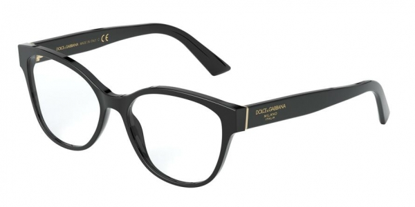 DOLCE & GABBANA DG3322F ASIAN FIT style-color 501 Black