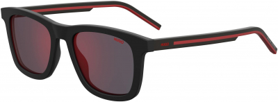 HUGO (HUG) HG 1065/S style-color Bkrt Crystal Red 0BLX / Red Sol-x AO Lens