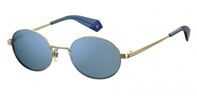 POLAROID CORE PLD 6066/S style-color Gold Blue 0LKS