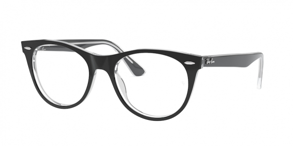 RAY-BAN RX2185V style-color 2034 Top Black ON Transparent