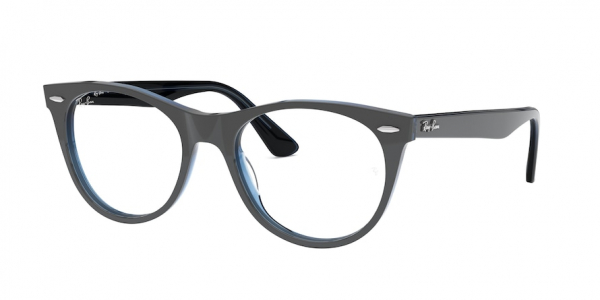 RAY-BAN RX2185V style-color 5988 Grey ON Top Trasparent Blue