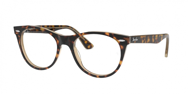 RAY-BAN RX2185V style-color 5989 Havana ON Top Trasp Brown