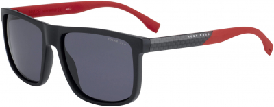 BOSS (HUB) BOSS 0879/S style-color Matte Black 00JA / Smoke Polarized 3H Lens