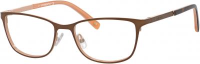 Liz Claiborne Metal Butterfly Eyeglasses 50 0FE1 Burgundy Plum